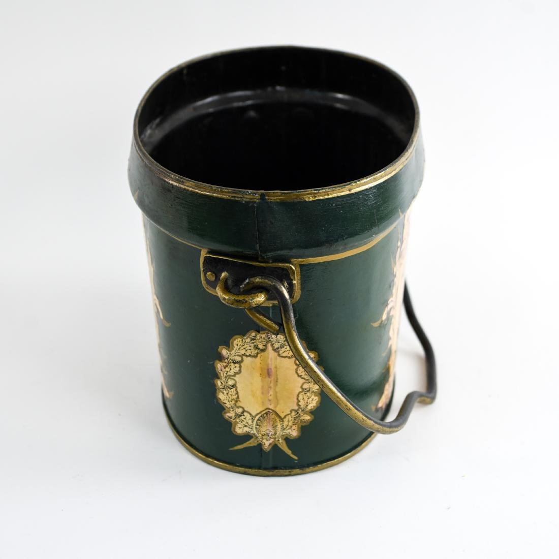 TOLE PAINTED BUCKET - 6