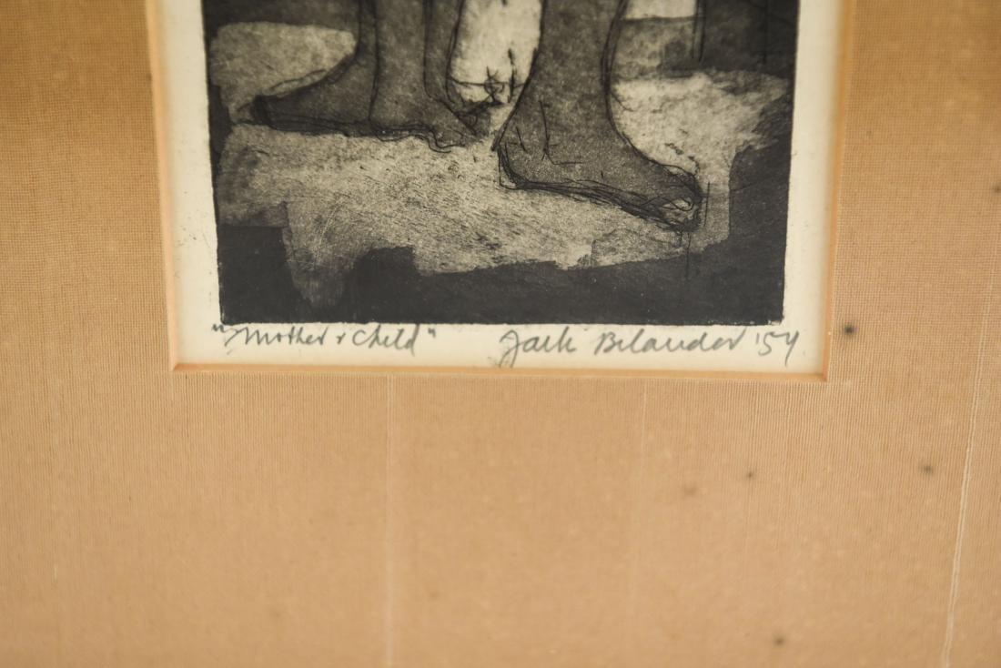 JACK BILANDER (1919-2008) MODERNIST ETCHING - 2