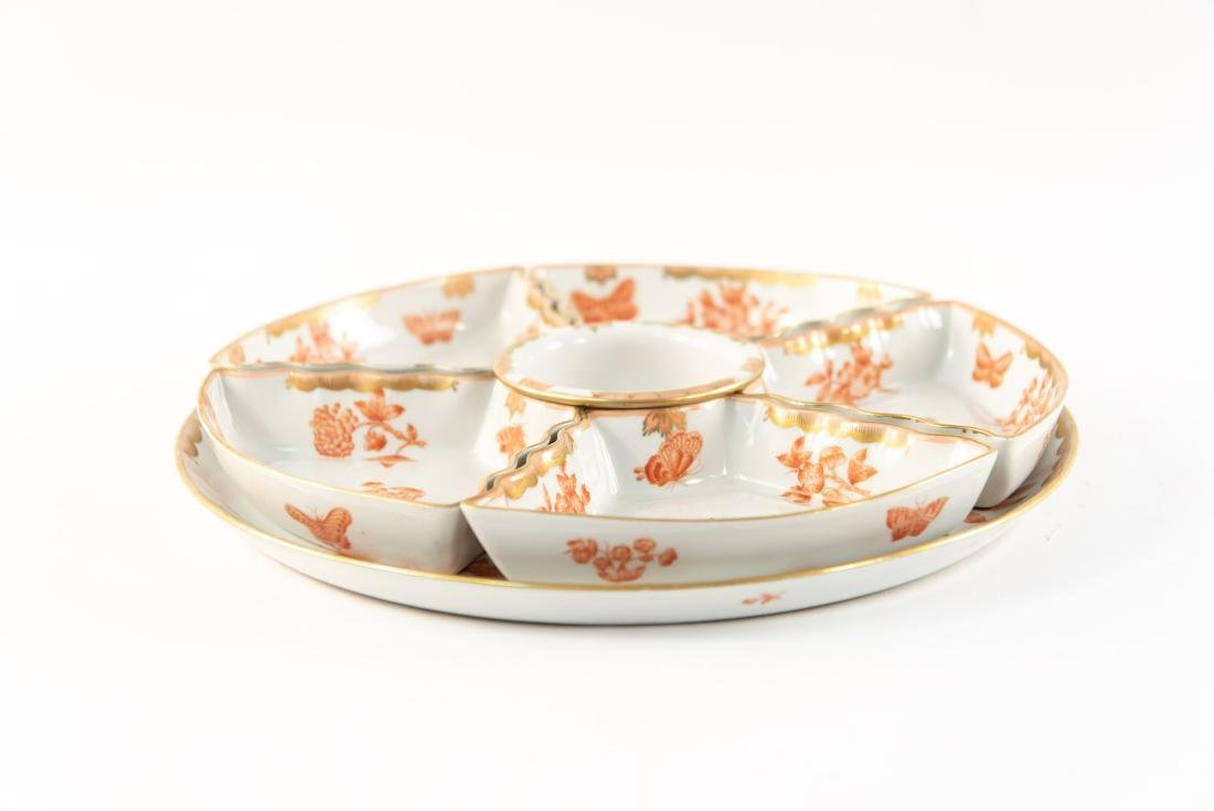 HUNGARIAN PORCELAIN DIVIDED SERVING TRAY