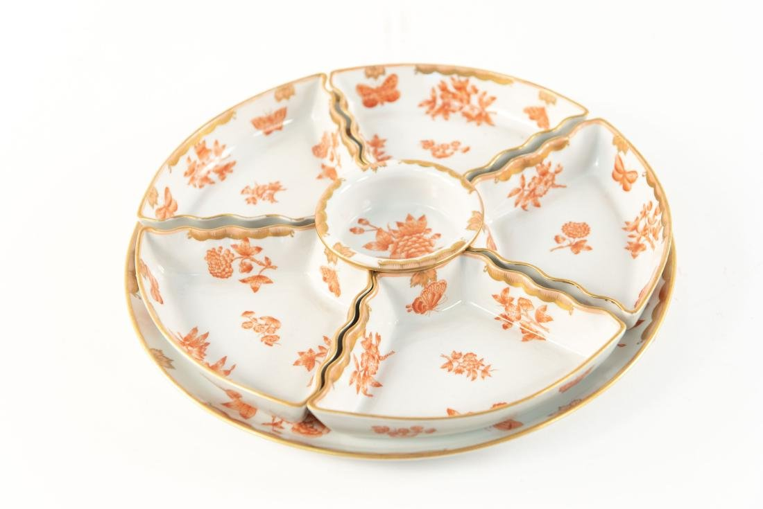 HUNGARIAN PORCELAIN DIVIDED SERVING TRAY - 2