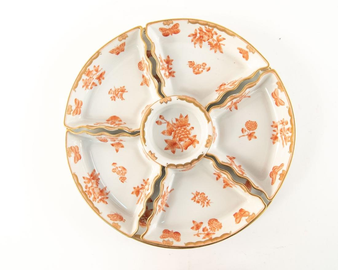 HUNGARIAN PORCELAIN DIVIDED SERVING TRAY - 3