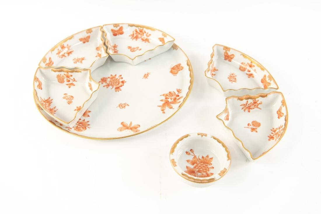 HUNGARIAN PORCELAIN DIVIDED SERVING TRAY - 4