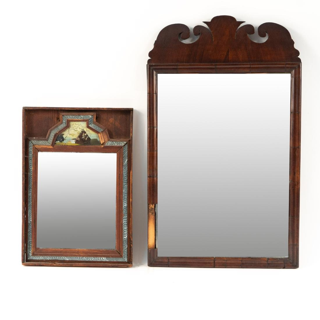 (2) 19TH C. ANTIQUE MIRRORS