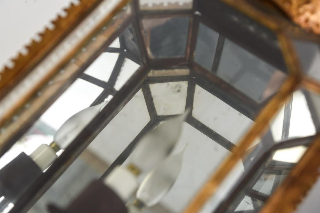 CROWN GLASS CASE LANTERN SCONCES LIGHT FIXTURES - 7