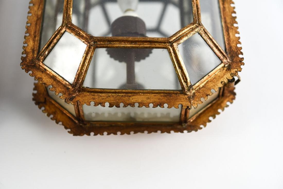 CROWN GLASS CASE LANTERN SCONCES LIGHT FIXTURES - 9