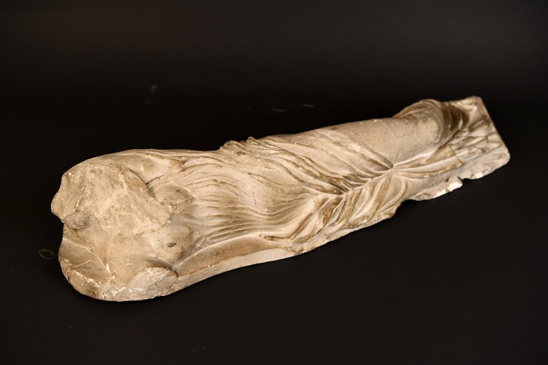 19TH C. PLASTER CAST CLASSICAL DRAPED FEMALE