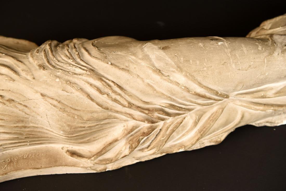 19TH C. PLASTER CAST CLASSICAL DRAPED FEMALE - 4