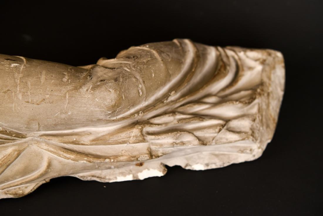 19TH C. PLASTER CAST CLASSICAL DRAPED FEMALE - 5