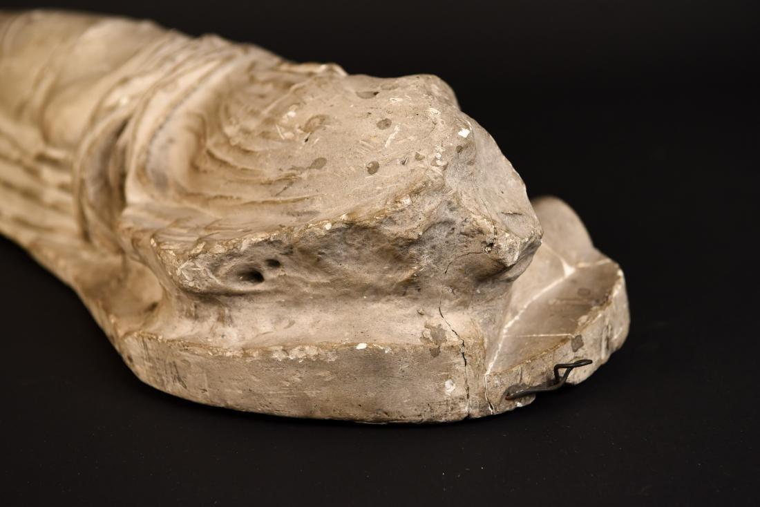 19TH C. PLASTER CAST CLASSICAL DRAPED FEMALE - 7