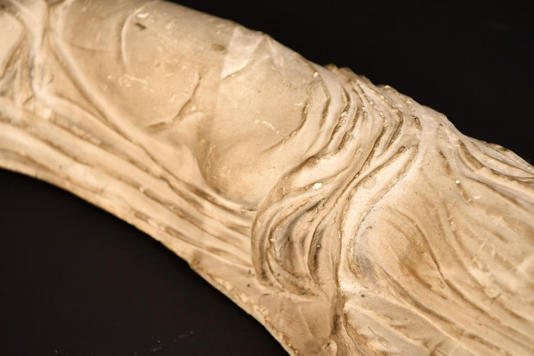 19TH C. PLASTER CAST CLASSICAL DRAPED FEMALE - 8