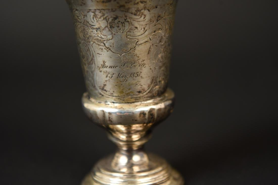 19TH C. SILVER GOBLET - 5