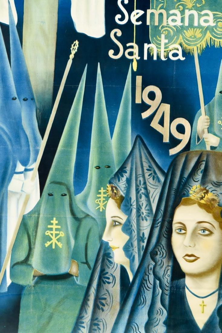 (2) SPANISH SEMANA SANTA 1949 POSTERS - 10
