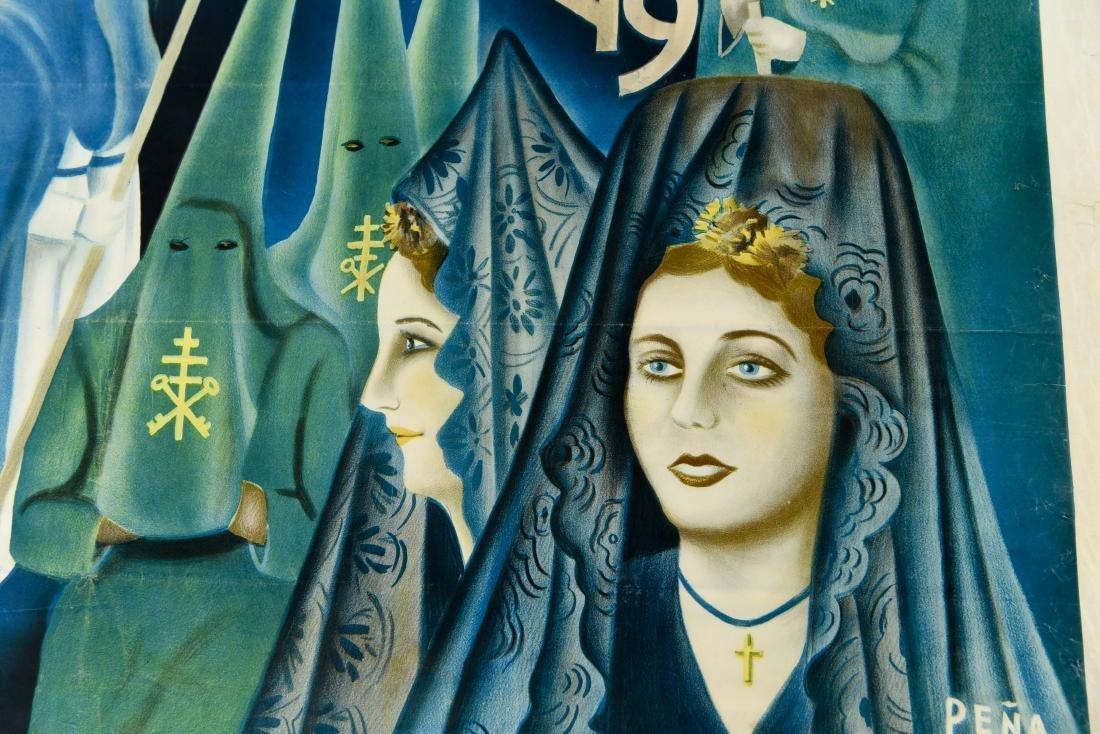 (2) SPANISH SEMANA SANTA 1949 POSTERS - 3