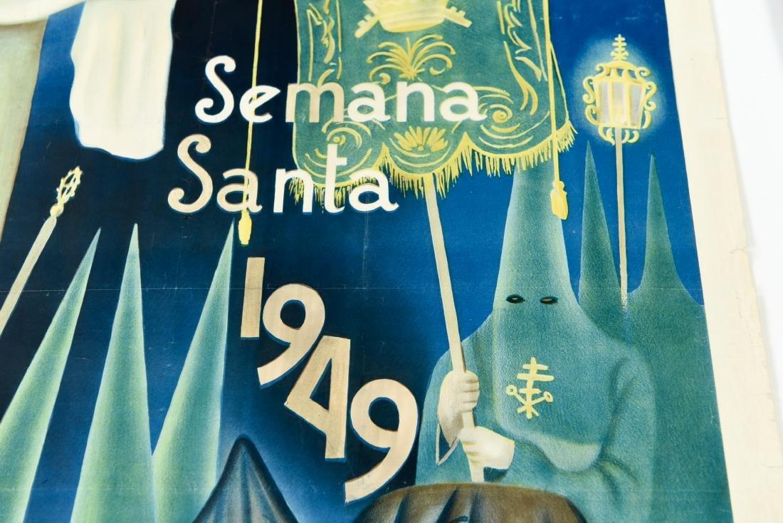 (2) SPANISH SEMANA SANTA 1949 POSTERS - 4