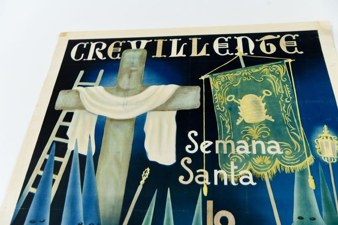 (2) SPANISH SEMANA SANTA 1949 POSTERS - 5