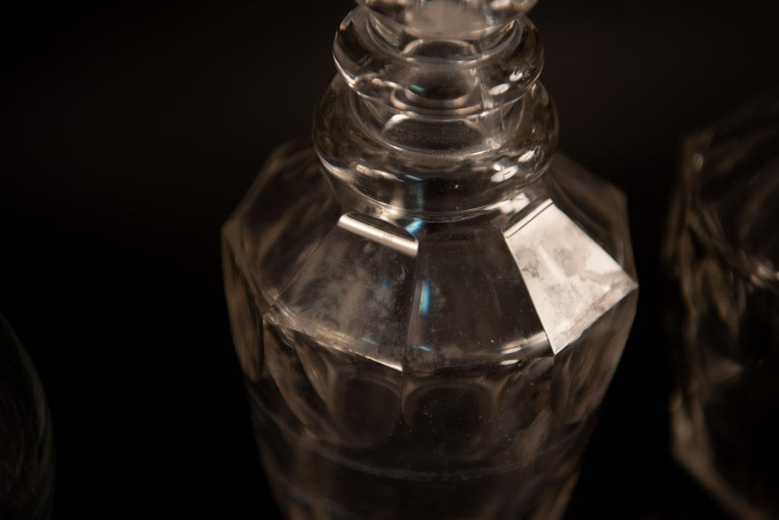 GROUPING OF GLASS DECANTERS - 10