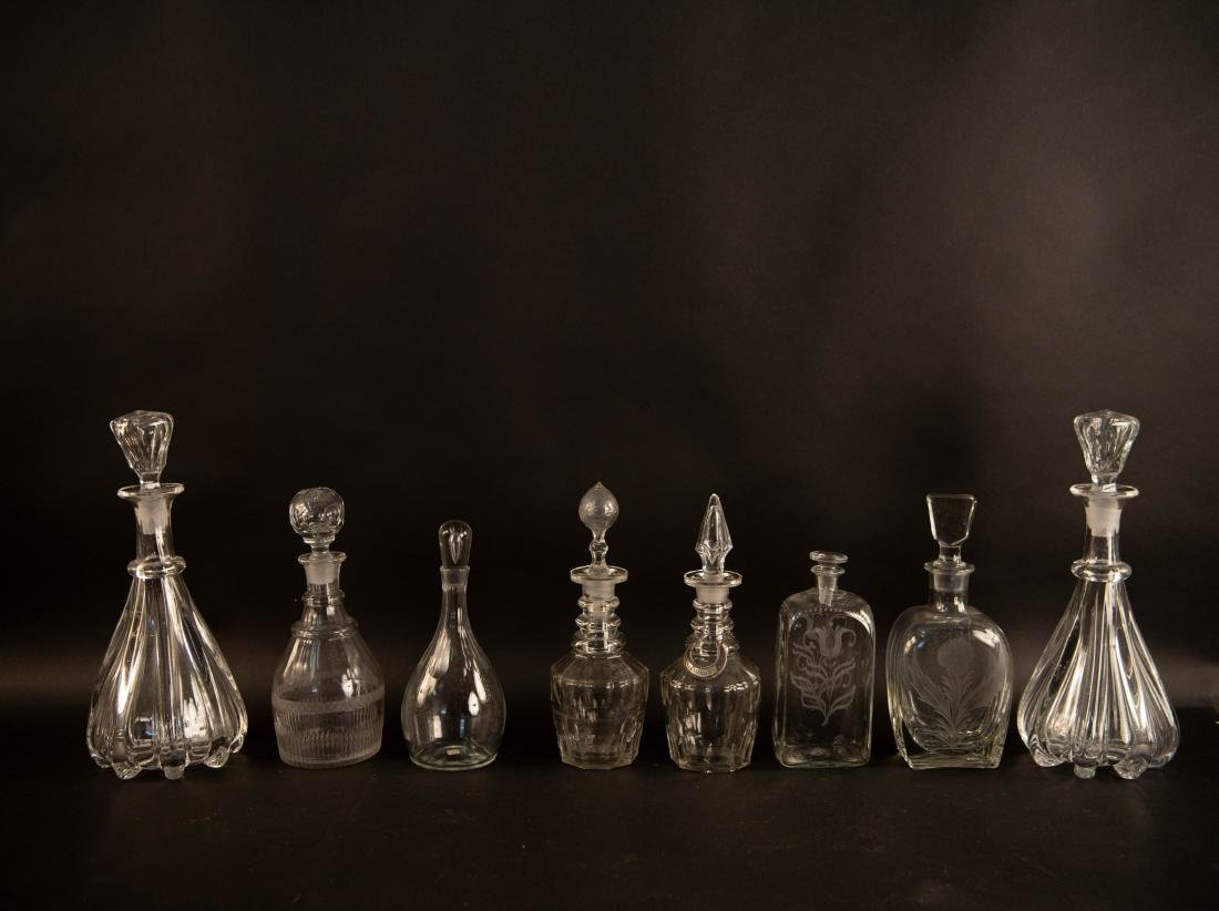 GROUPING OF GLASS DECANTERS - 2