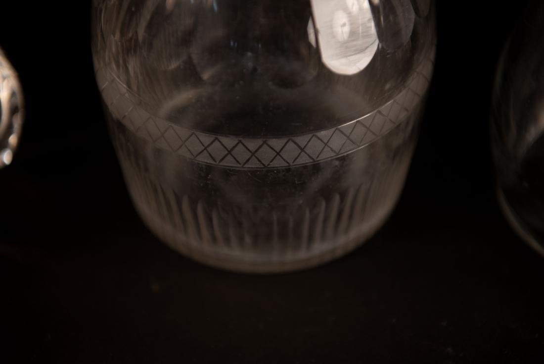 GROUPING OF GLASS DECANTERS - 6