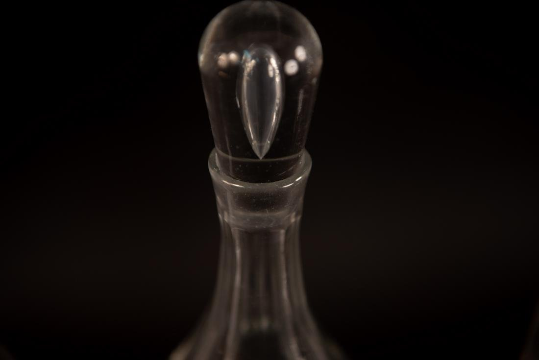 GROUPING OF GLASS DECANTERS - 7