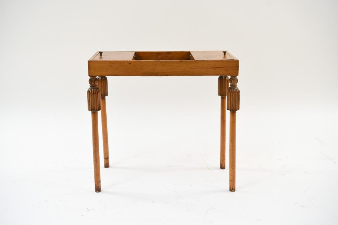 CARVED TASSEL LEG COMPARTMENT TABLE
