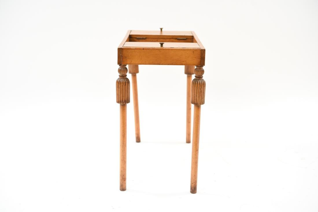 CARVED TASSEL LEG COMPARTMENT TABLE - 8