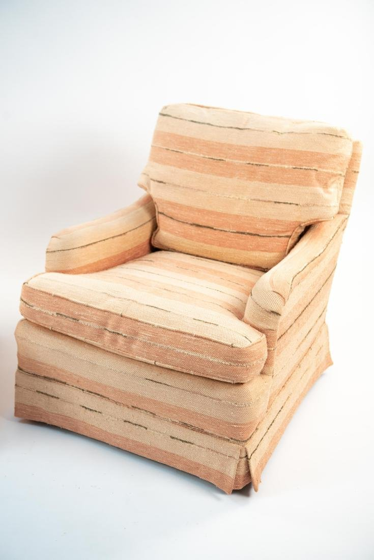 PAIR OF UPHOLSTERED CLUB CHAIRS - 3