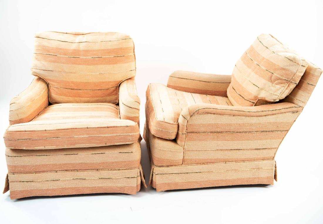 PAIR OF UPHOLSTERED CLUB CHAIRS - 4