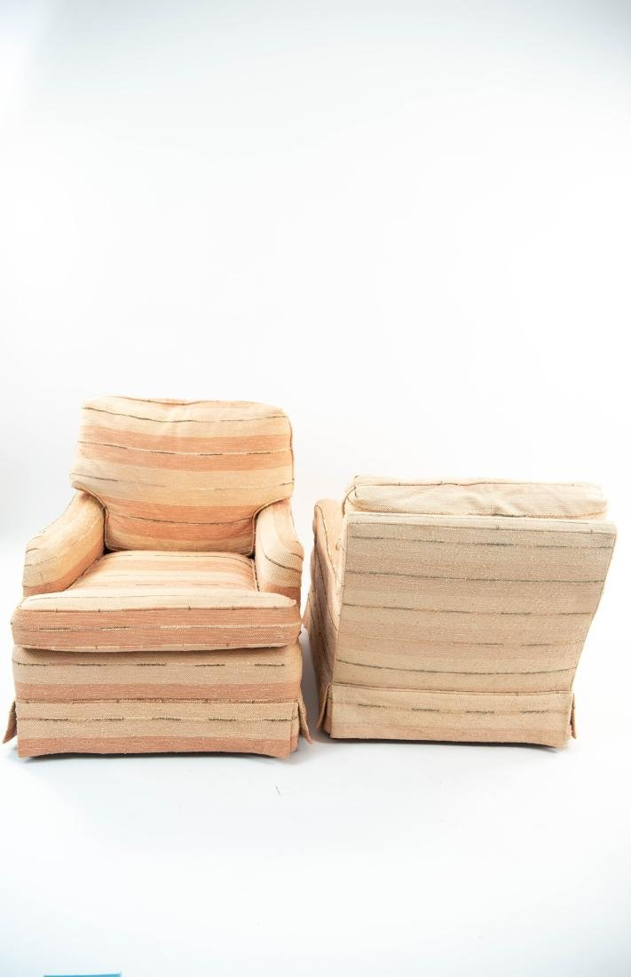 PAIR OF UPHOLSTERED CLUB CHAIRS - 5
