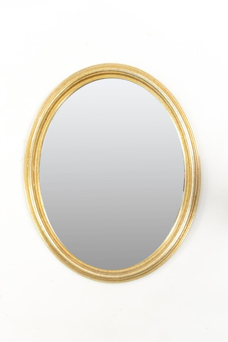 OVAL GILT FRAME MIRROR