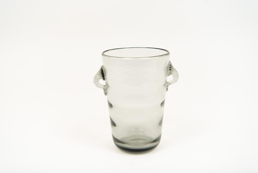 GLASS GROUPING INCL DECANTER ICE BUCKET VASE - 7