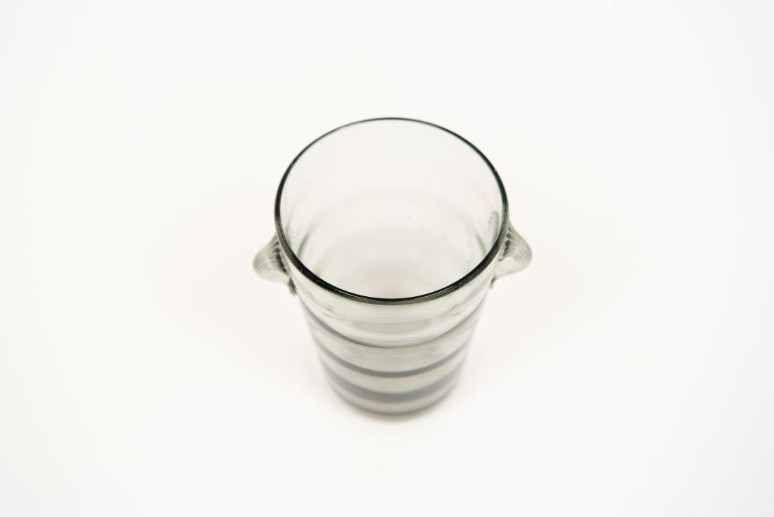 GLASS GROUPING INCL DECANTER ICE BUCKET VASE - 8