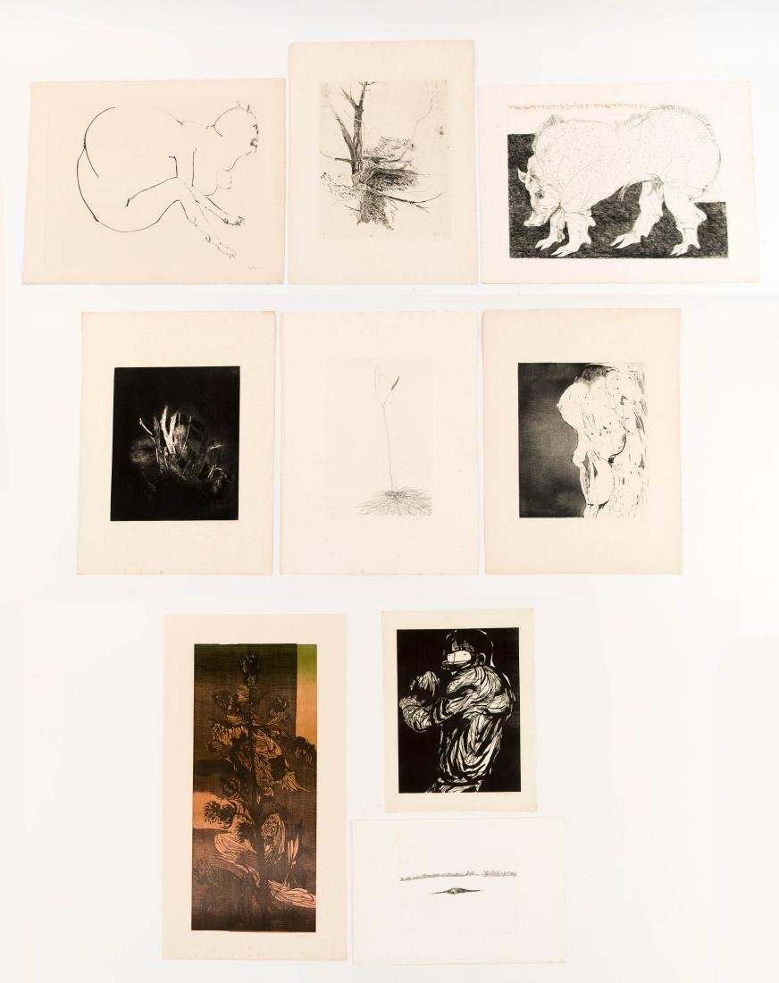 GROUPING OF LEONARD BASKIN PRINTS