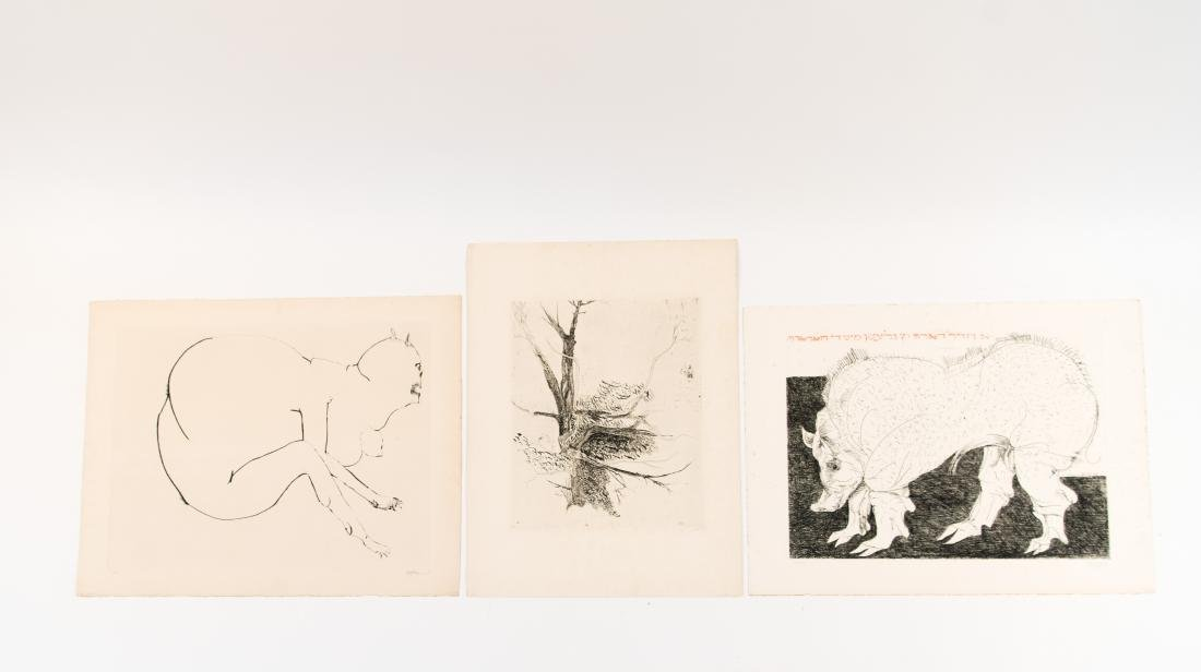 GROUPING OF LEONARD BASKIN PRINTS - 2