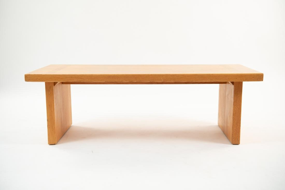 BUTCHER BLOCK MORTISE STYLE COFFEE TABLE - 10