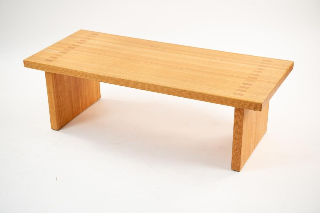 BUTCHER BLOCK MORTISE STYLE COFFEE TABLE