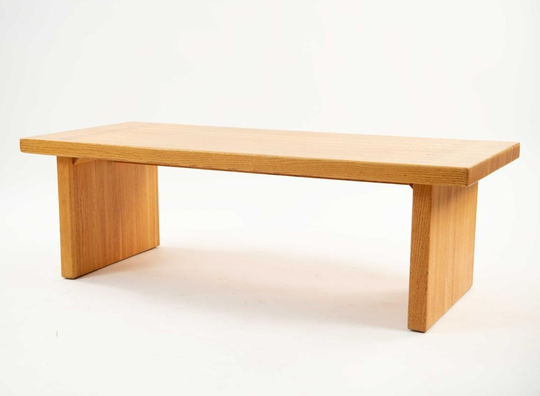 BUTCHER BLOCK MORTISE STYLE COFFEE TABLE - 2