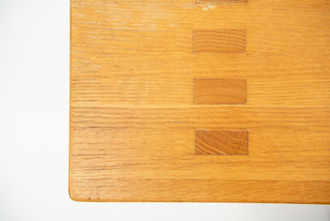 BUTCHER BLOCK MORTISE STYLE COFFEE TABLE - 8