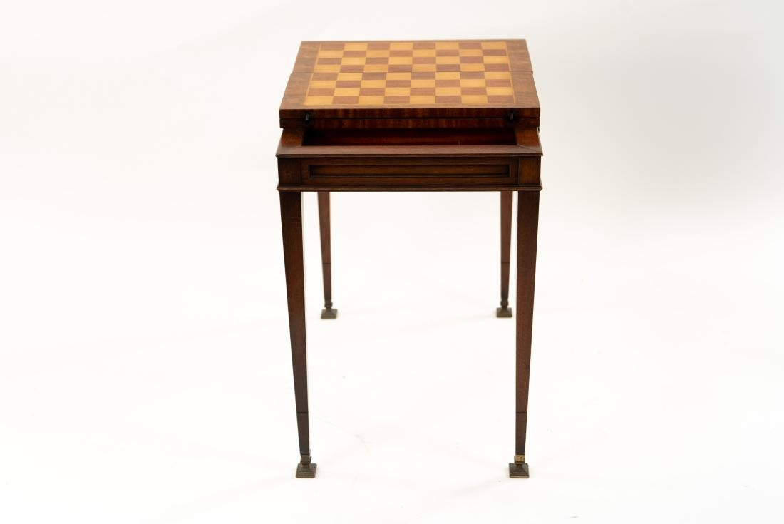 FLIP LEATHER TOP GAMING / WRITING DESK TABLE - 10
