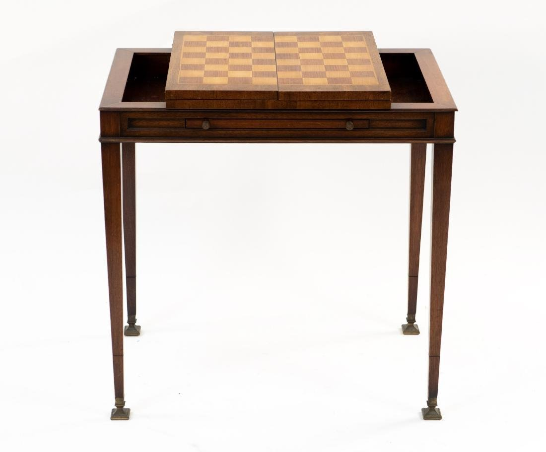 FLIP LEATHER TOP GAMING / WRITING DESK TABLE