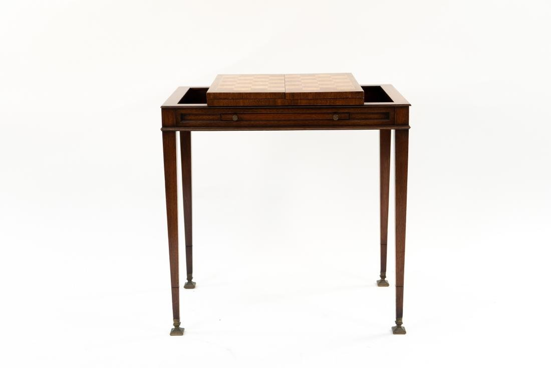 FLIP LEATHER TOP GAMING / WRITING DESK TABLE - 2