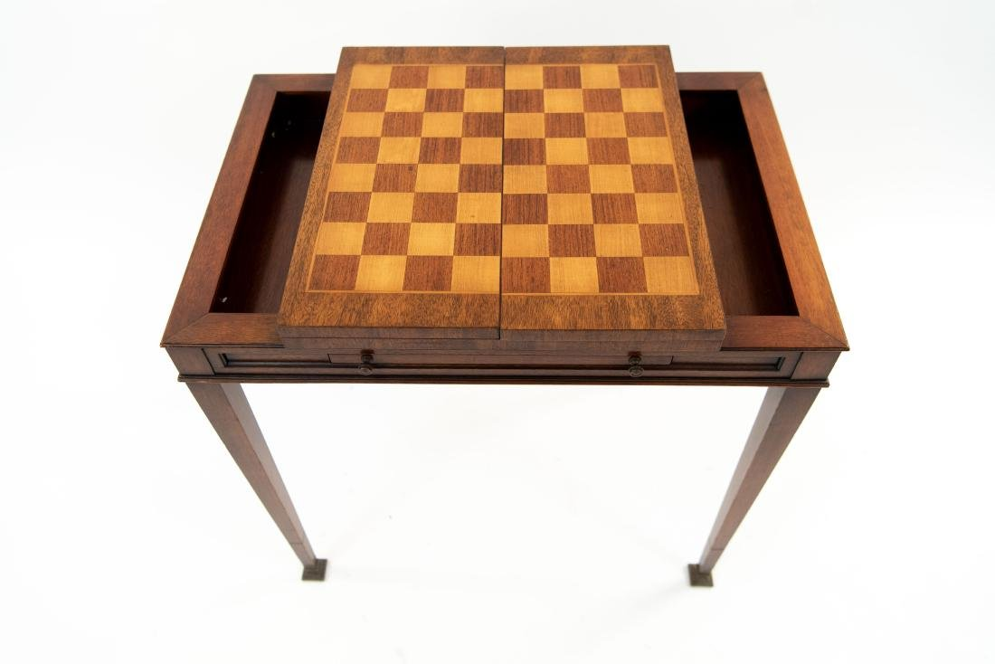 FLIP LEATHER TOP GAMING / WRITING DESK TABLE - 3