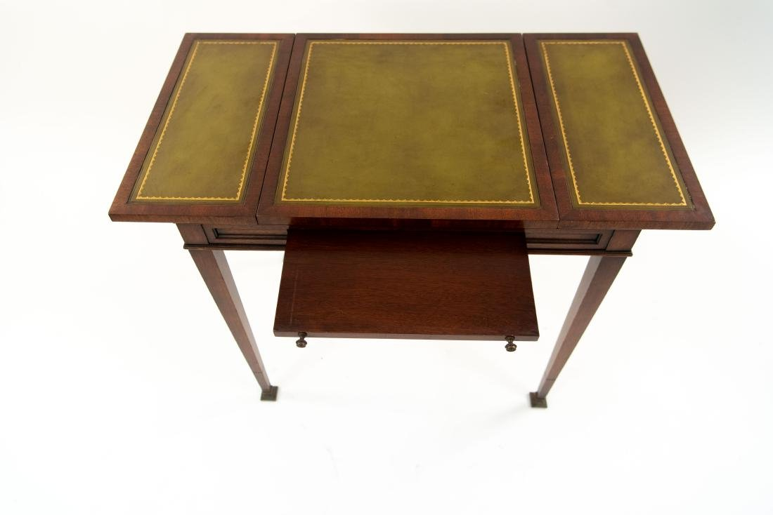 FLIP LEATHER TOP GAMING / WRITING DESK TABLE - 4