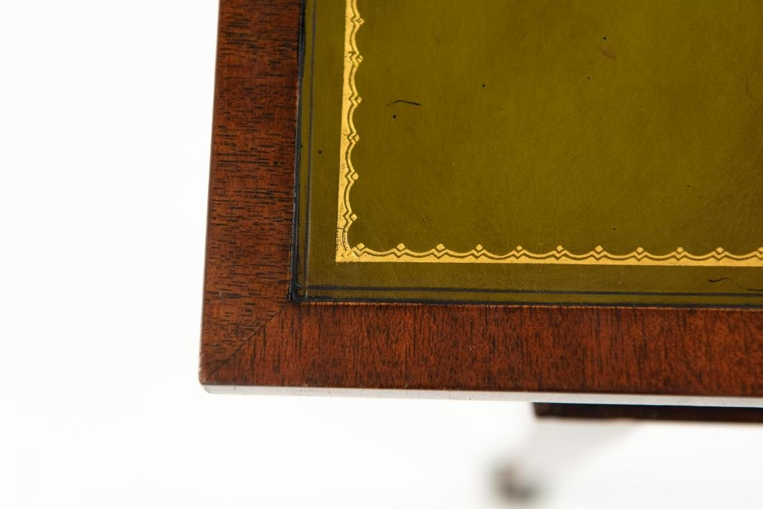 FLIP LEATHER TOP GAMING / WRITING DESK TABLE - 5