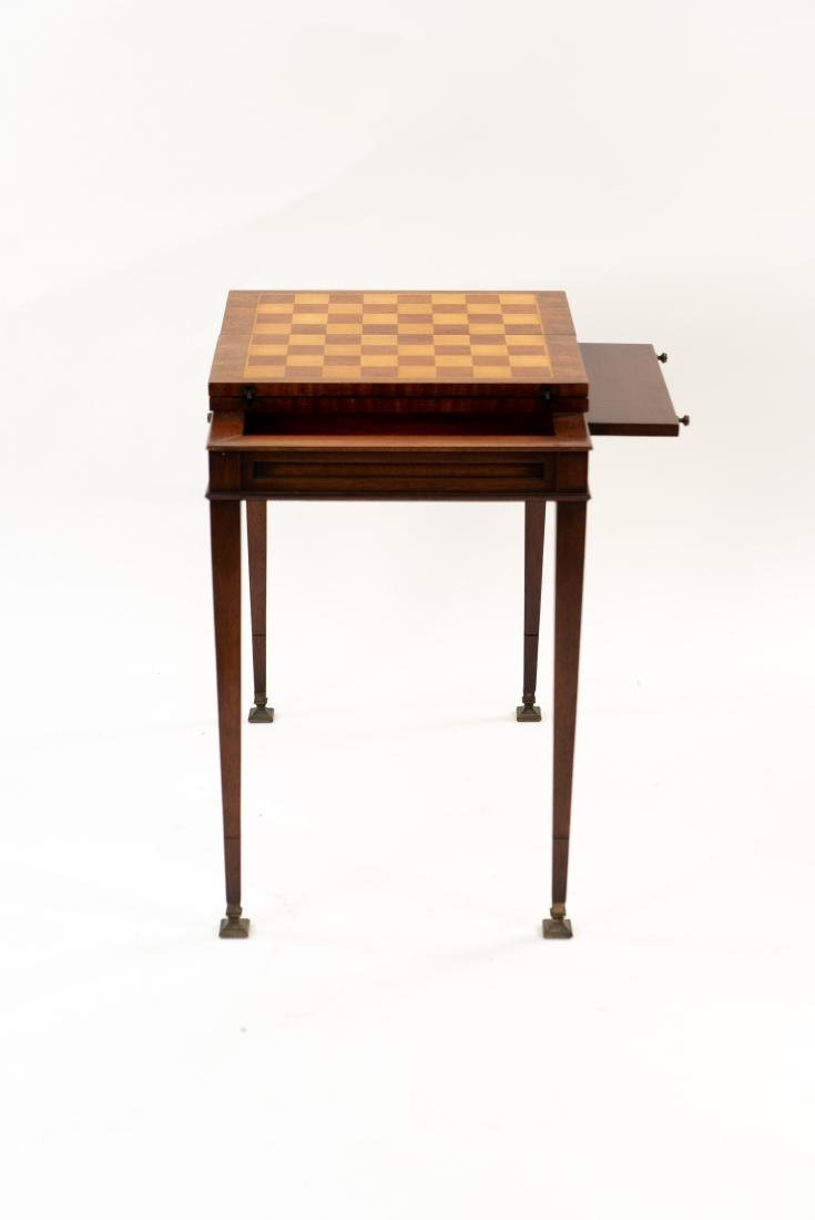 FLIP LEATHER TOP GAMING / WRITING DESK TABLE - 8