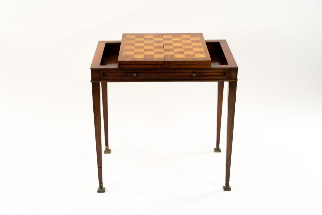 FLIP LEATHER TOP GAMING / WRITING DESK TABLE - 9
