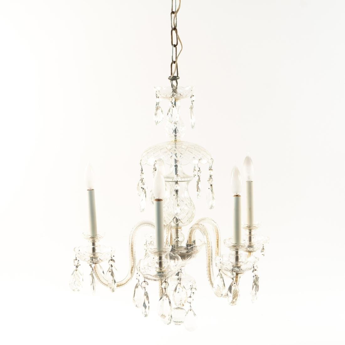 GLASS & DROP CRYSTAL CHANDELIER