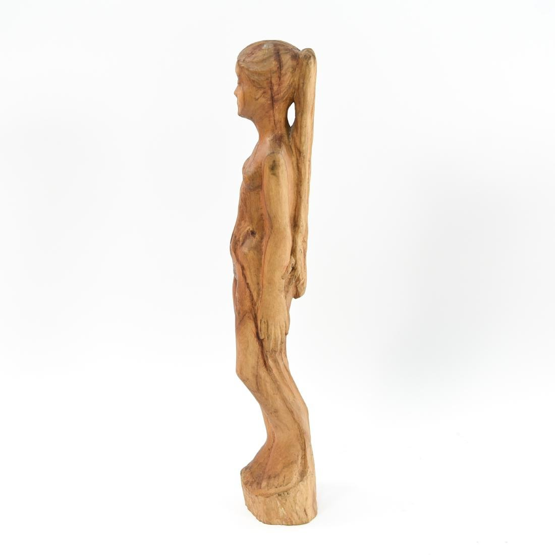 CARVED WOOD NUDE SCULPTURE - 2