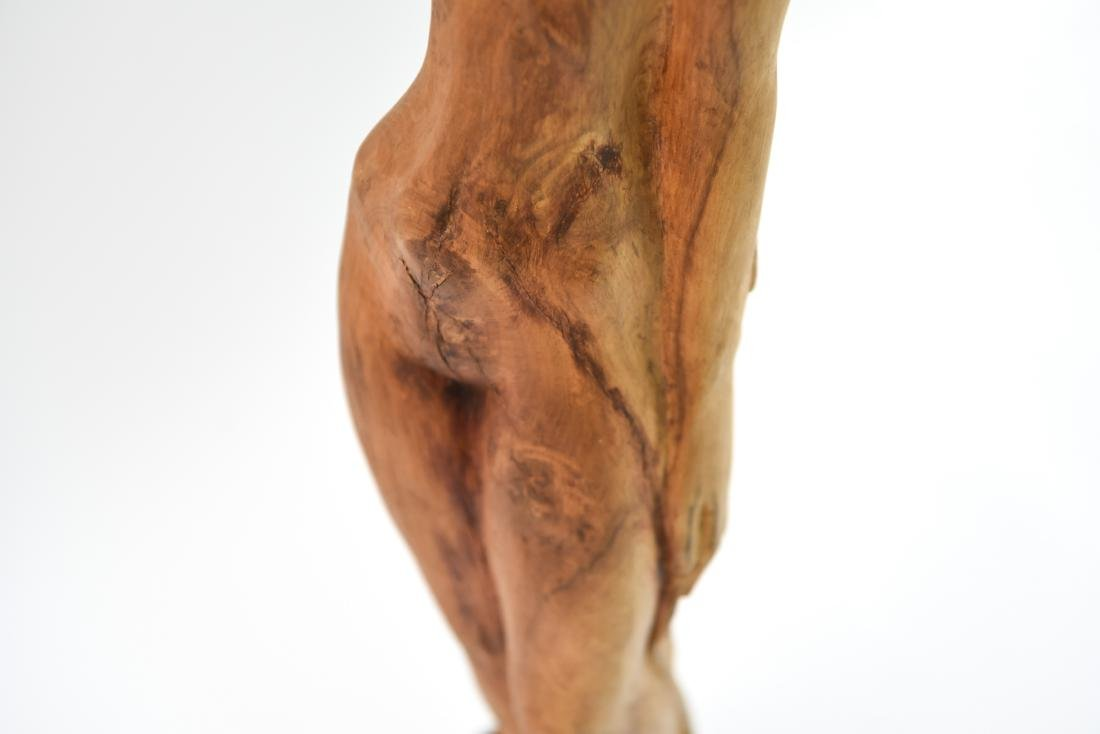 CARVED WOOD NUDE SCULPTURE - 4