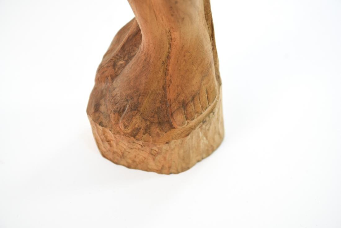 CARVED WOOD NUDE SCULPTURE - 5