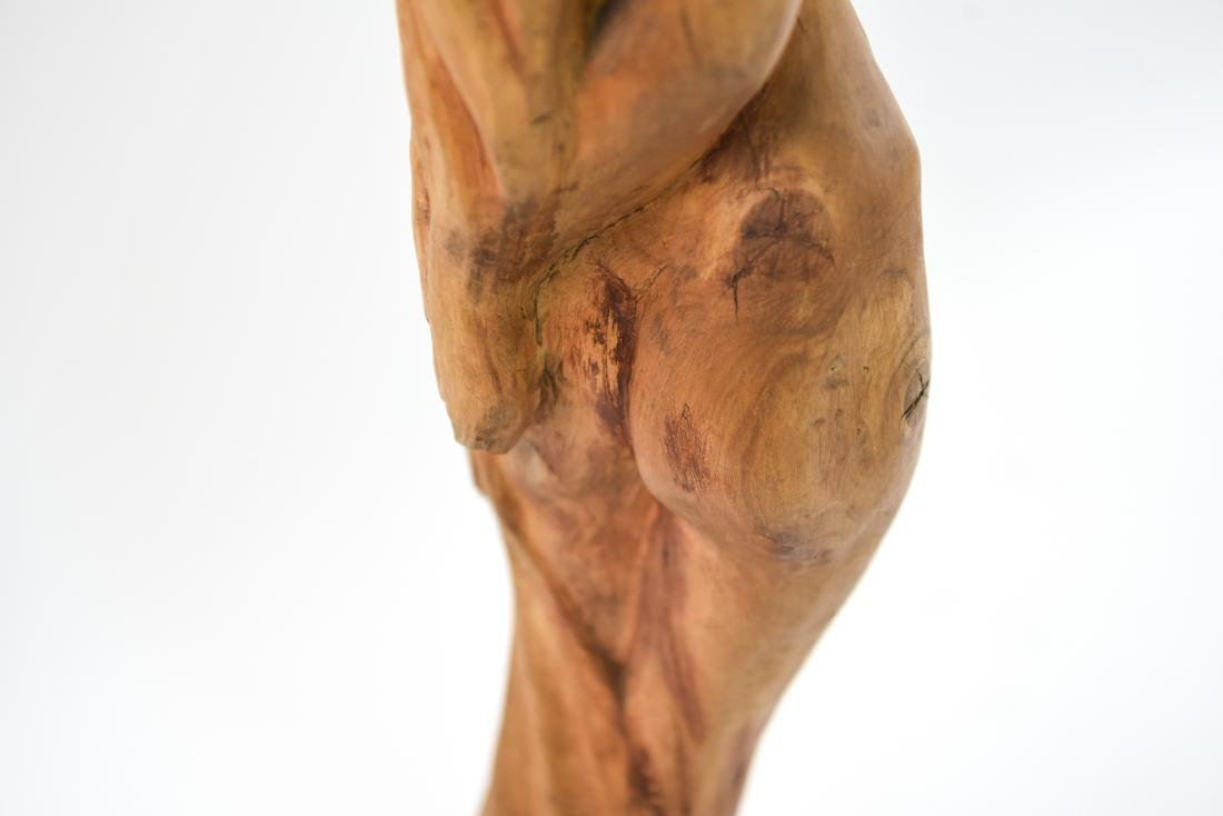 CARVED WOOD NUDE SCULPTURE - 7